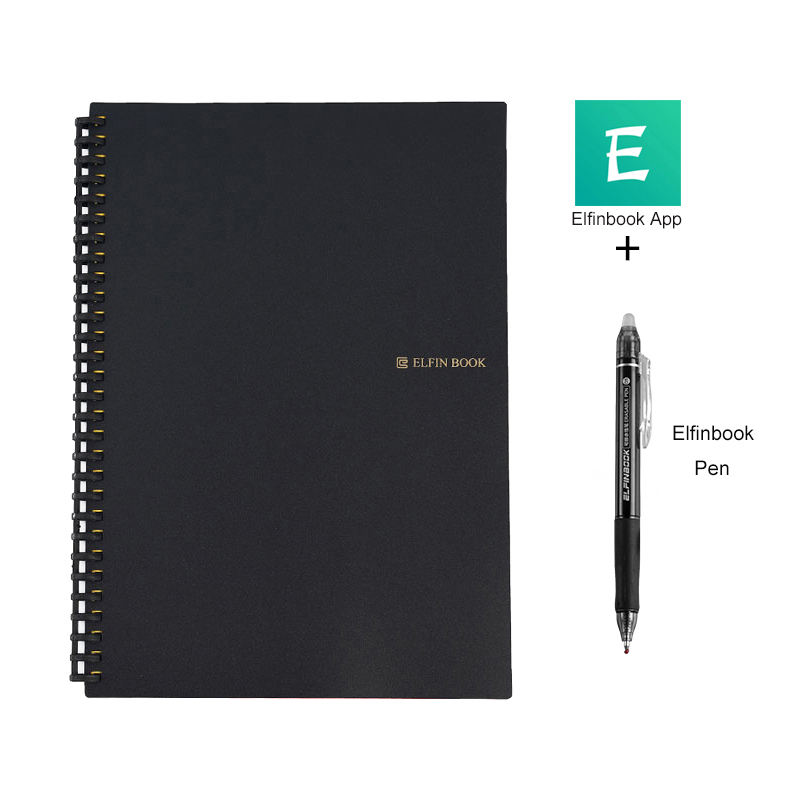 Elfinbook 2.0 Custom Reusable Eco Paper Erasable Waterproof Field Like Rocketbook Wave Everlast Reusable Smart Notebook