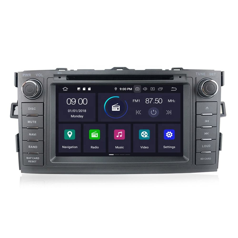 PX5 MEKEDE Android 9.0 4 + 64G Car DVD Player für Toyota Auris 08-12 Stereo Audio Radio GPS Multimedia Video BT SWC WIFI RDS Radio