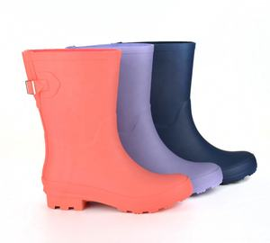 Manufacture High Quality Waterproof Shoes Women Rubber Rain Boot Wholesale Ladies Gum Boot