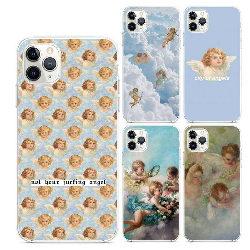 Renaissance angels Transparent TPU Phone Case For iphone 11 Pro 11Pro Max 8 7 6 6S Plus X XS MAX XR Case