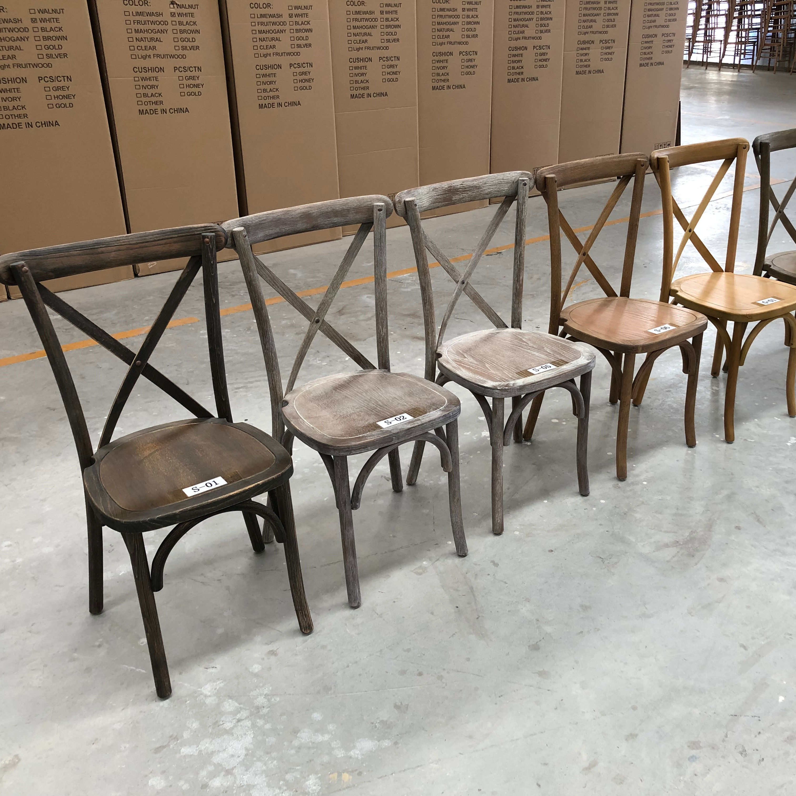 Wholesale High Quality X Cross Back Dining Chair for Event Party