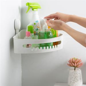 TAILI Bathroom Storage Corner Basket Corner Rack Vacuum Bathroom Holder Shower Caddy With Suction Cup