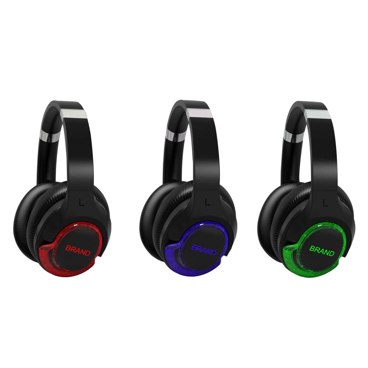 F18 Long Rang Party Led foldable Wireless Hi-fi Stereo Sound 3 multi channel silent disco wireless headphone and transmitter