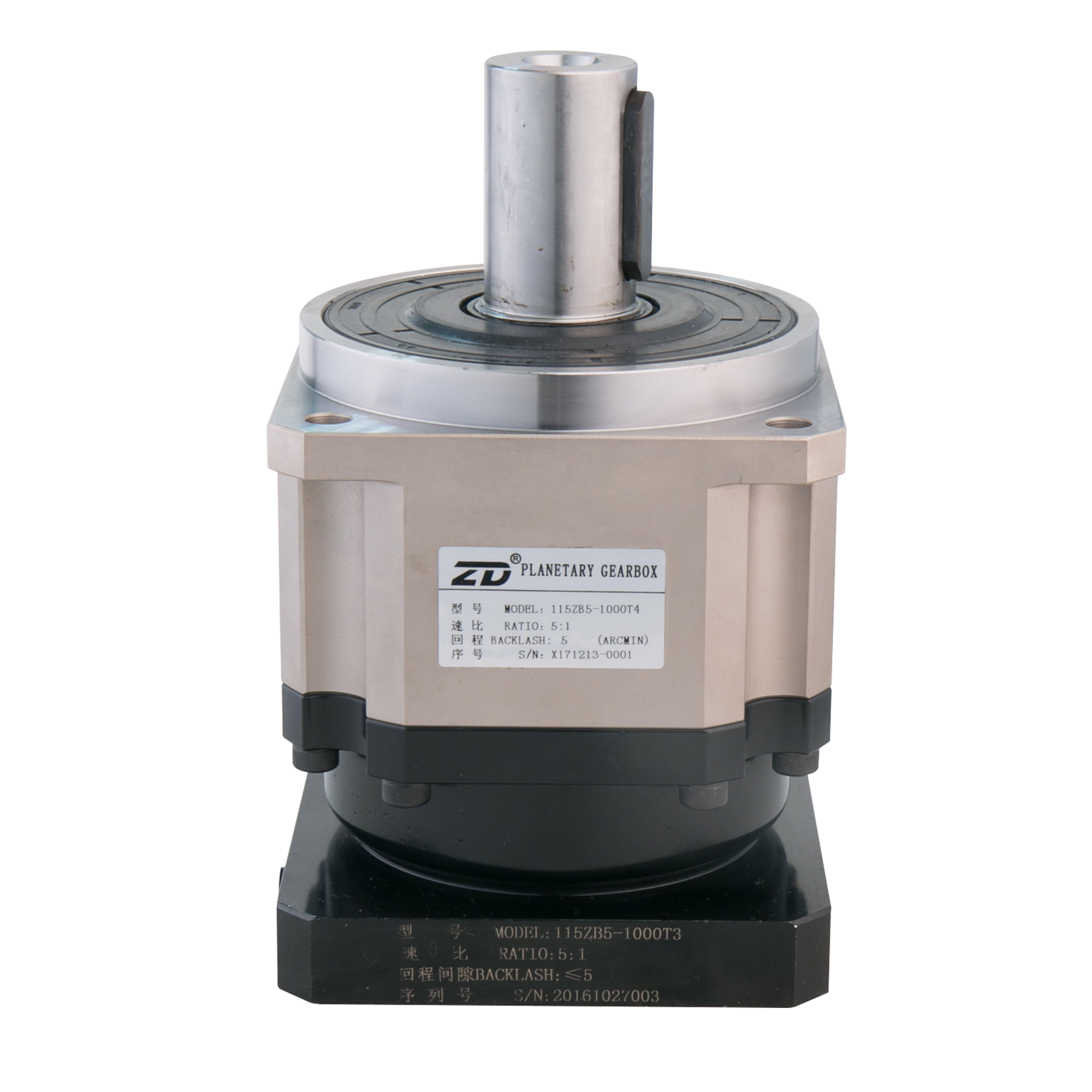 115ZB High Precision Planetary Gearbox,ratio 3:1-100:1, <5ARC.MIN