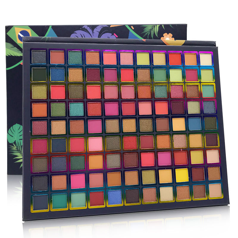 High Pigmented Makeup Palette Easy to Blend Color Fusion 99 Shades Metallic and Shimmers Eyeshadow
