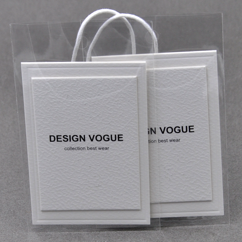 Luxury Hang Tag Set For Jeans Clothing, Garment Accessories Embossed Hangtag Label Design Custom With Own Logo