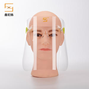Fast delivery Disposable Heng De Plastic PET Protective Face Shield With Glass frame