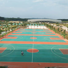 IAAF certificated Prefabricated Rubber Basketball Court