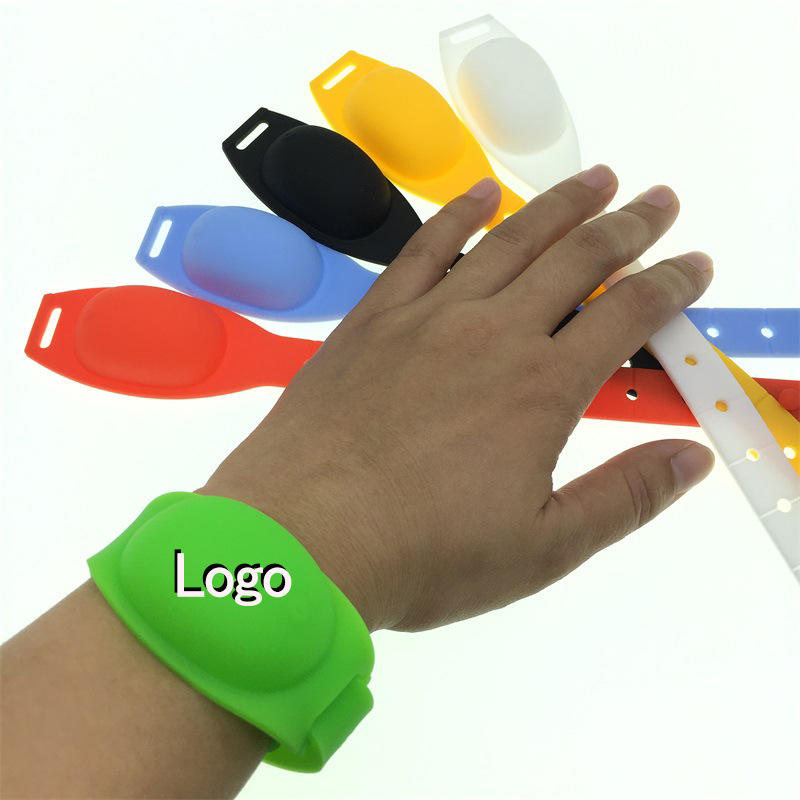 Refillable Dispenser Bracelet Silicone Wearable Wrist Band for Adults Kids for Hand Washing