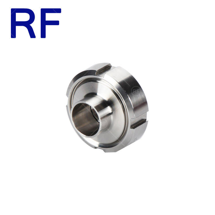 RF Stainless Steel 304 and 316L DIN Standard Pipe Fittings Union Roun Nut Welding Union Coupling