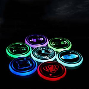 Car LED water drink glass Bottle cup mat intelligent charmley luminous water coaster
