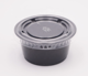Cups Sauce Cup Sauce Plastic Cups Disposable 2oz Black Sampling Cups Pp Sauce Plastic Portion Cups With PET Clear Lids