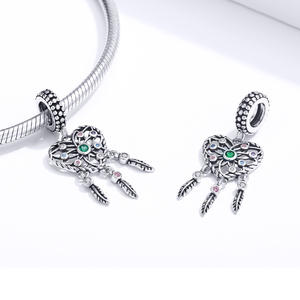 Dream Catcher Pendant Charm fit Original Silver Bracelet 925 Sterling Silver Fashion DIY Jewelry Making