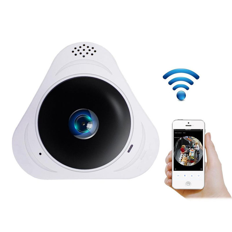 Hot Sale Home 360 Fisheye Wifi Panorama IP Wireless CCTV Camera 360 Degree 960P 3D VR Fisheye Camera Night Vision Video Camara