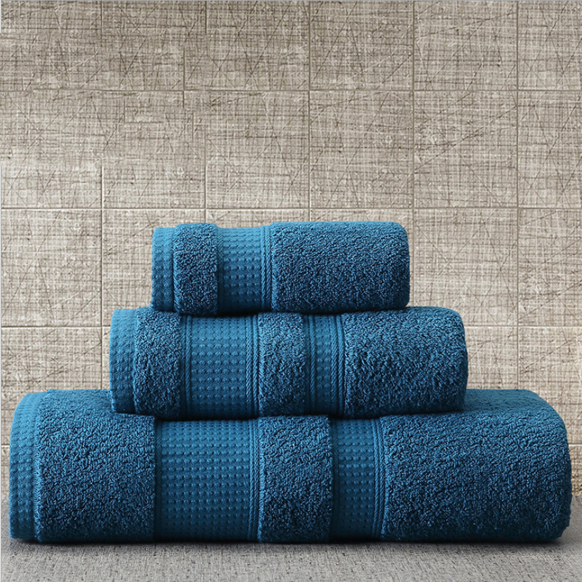 Luxury Hotel 100% Cotton Bath Towel/16s Full Hotel Towel Set White Cream Blue Green Fancy Bath Face Towels