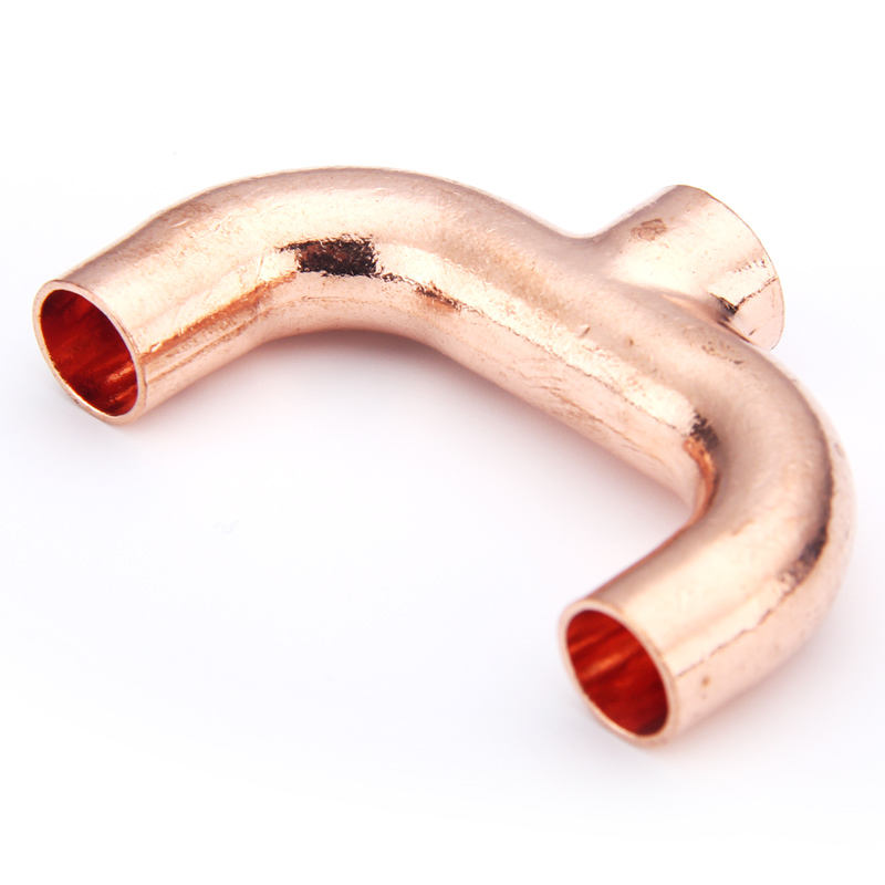 All sizes best quality copper Y Tee refrigeration plumbing tube pipe Y Air Conditioning Fitting fitting
