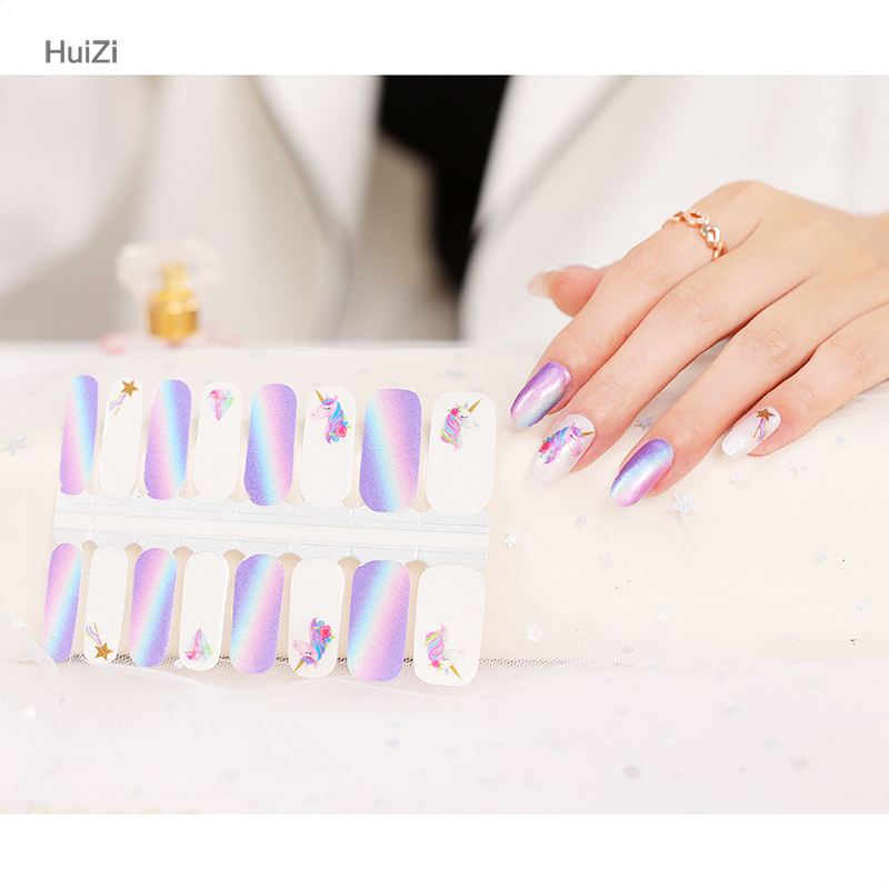 Color Personality Art Decoration Nail Polish Wraps Strips Nails Stickers