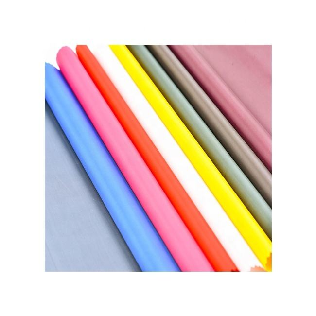"170T Polyester Peacock Taffeta Lining PA Coated Fabric 68"" 8kg Cheap Taffeta For Bag Lining"