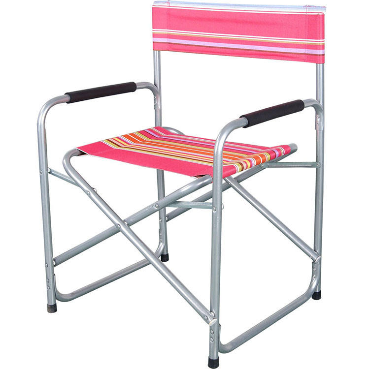Graphic Customization [ Portable Chair Fishing ] Fishing Chair Portable Outdoor Folding Beach Chair Aluminum Folding Director Chair For Fishing Hiking Camping
