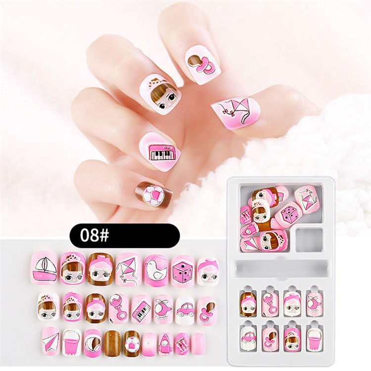 New Design Lovely Cartoon Press on Nail Tips Press Nail Set