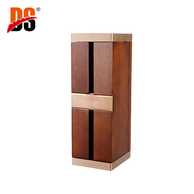 DS Wholesale Factory OEM Bulk Custom Design Cheap Solid Wooden Single Bottle Wood Wine Box
