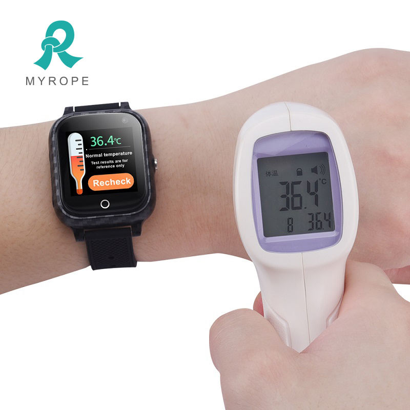 Body temperature measurement smart watch gps