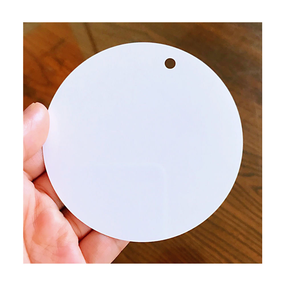 "Hot Sales Chinese Suppliers Christmas Metal Ornaments Blanks Sublimation Aluminum Plates Round Circles 3.5"" Inch with Holes"
