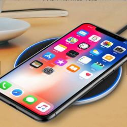 hot sale 10W Qi Wireless Charger Pad LED Light Fast Charging Wireless Charger for iphone Xs Max X 8 Plus