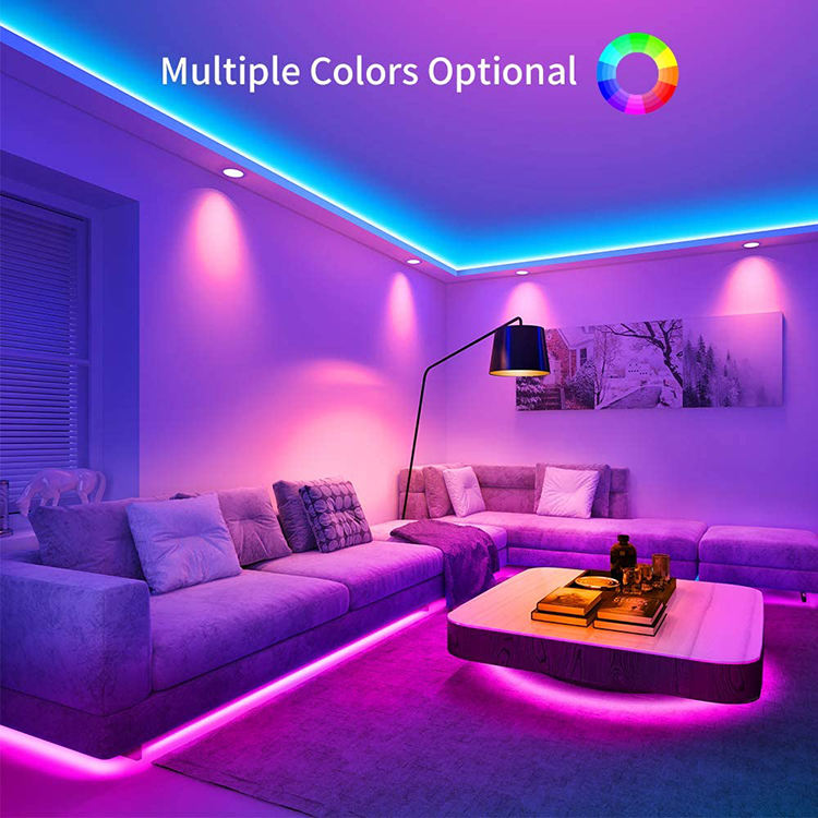 Factory Price 15M LED Strip Lights RBG Color Changing Light StripsとRemote、Bright 5050 Smart LED Strip Lights