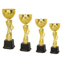 Gifts and crafts winner tournaments metal cup trophies gold souvenir decoration for multisports champion league awards