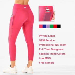 Custom Womens Yoga Pants Lycra Sports Clothes Plus Size Workout Clothing Wear Gym Leggings High Waisted Workout Yoga Leggings