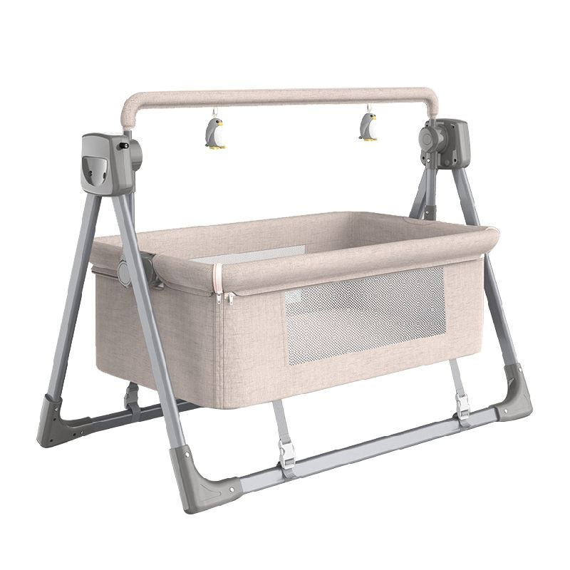 Customized 0-36 months baby swing crib electric cradle automatic swing baby crib folding bed