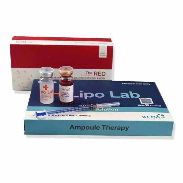 the red solution ampoule/ injectable lipo for lipo lipo-b (mic) injection the red ampoule solution /lipo lean injections
