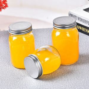 Eco-friendly cookie food candy glass storage jar with lid