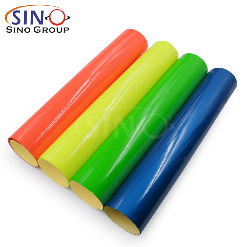 Factory Price Hot Selling PVC Color Self Adhesive Removable Fluorescent Vinyl Film