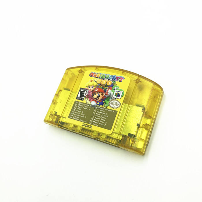 USA version Yellow shell n64 18 in 1 for mario party 1 2 3