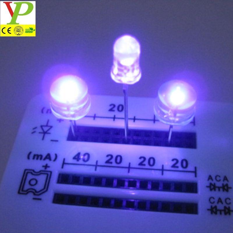 Purple 1000 mcd LED Bulb Light lamp 2pin Round Top RH 50pcs 5mm UV