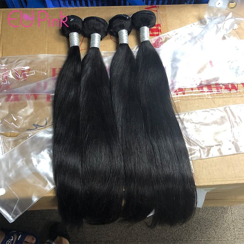 EU Pink #1B silky straight premium hair extensions human hair ship to hollywood hair extensions in large stocks