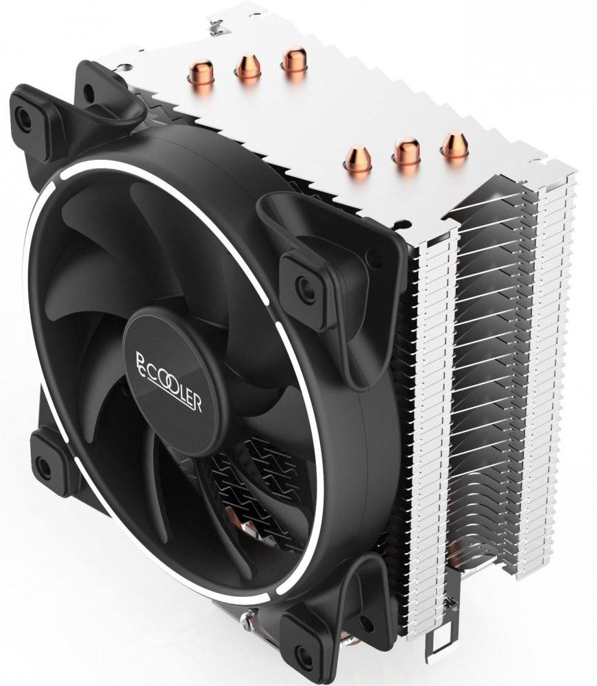 PCCOOLER 120 мм heatpipe cpu кулер