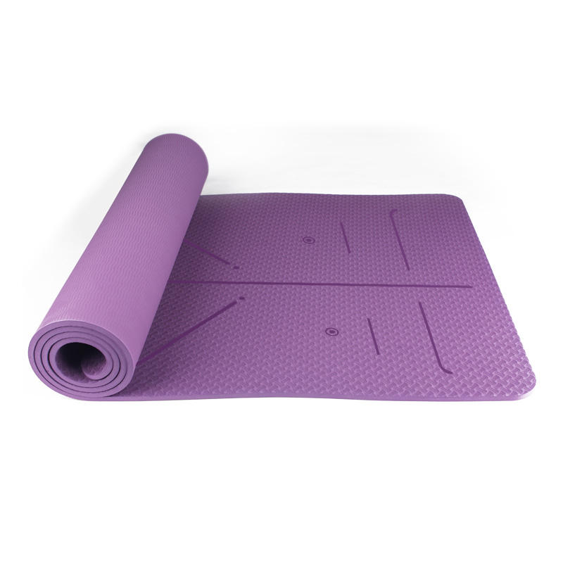 Eco Friendly Custom Yoga Mat TPE Material Wholesale China,Purple Best Pilates Mats Private Logo Available