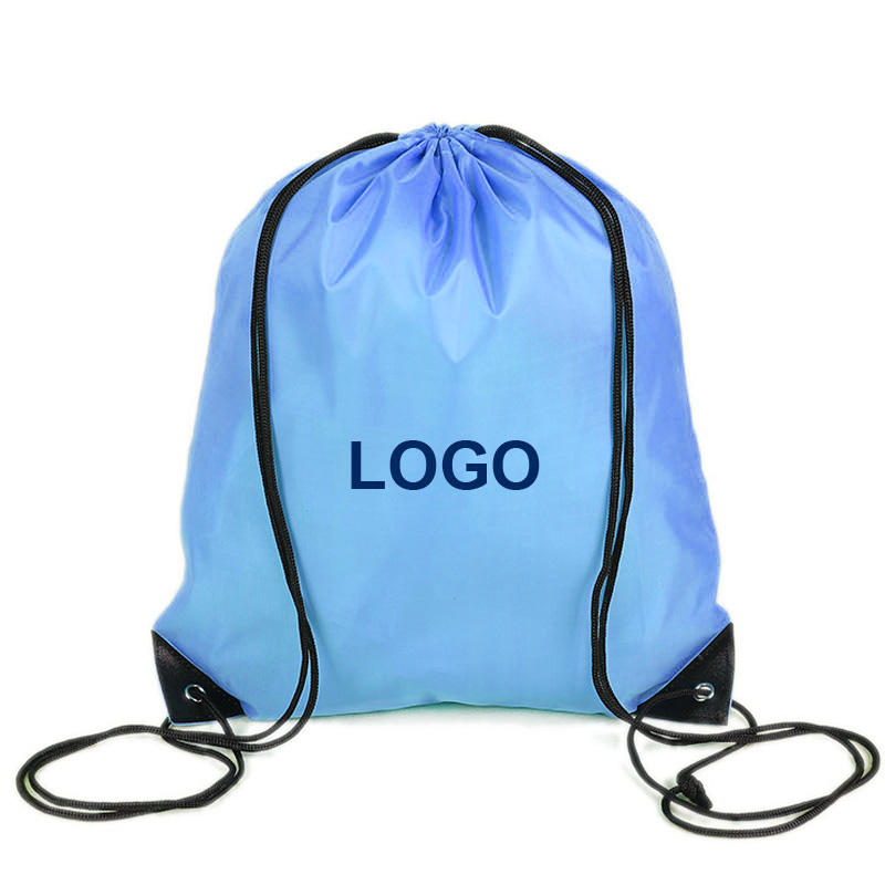 Hot sale Original factory cheap polyester custom promotional drawstring backpack