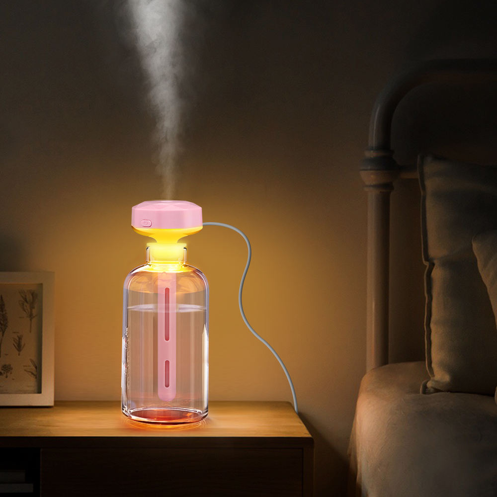 Home Appliances Portable Mister Air Ultrasonic Electric Diffuser Humidifiers With Led Lamp