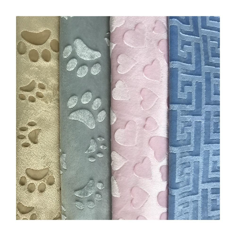 Super Soft printing fabrics materials Low price high quality custom Embossed 100% Polyester Home Textile fabric