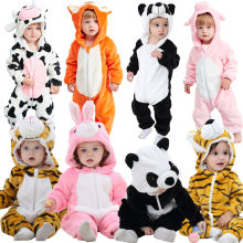 MICHLEY Infant Girls Boys Cosplay Clothes Winter Animal Newborn Baby Rompers