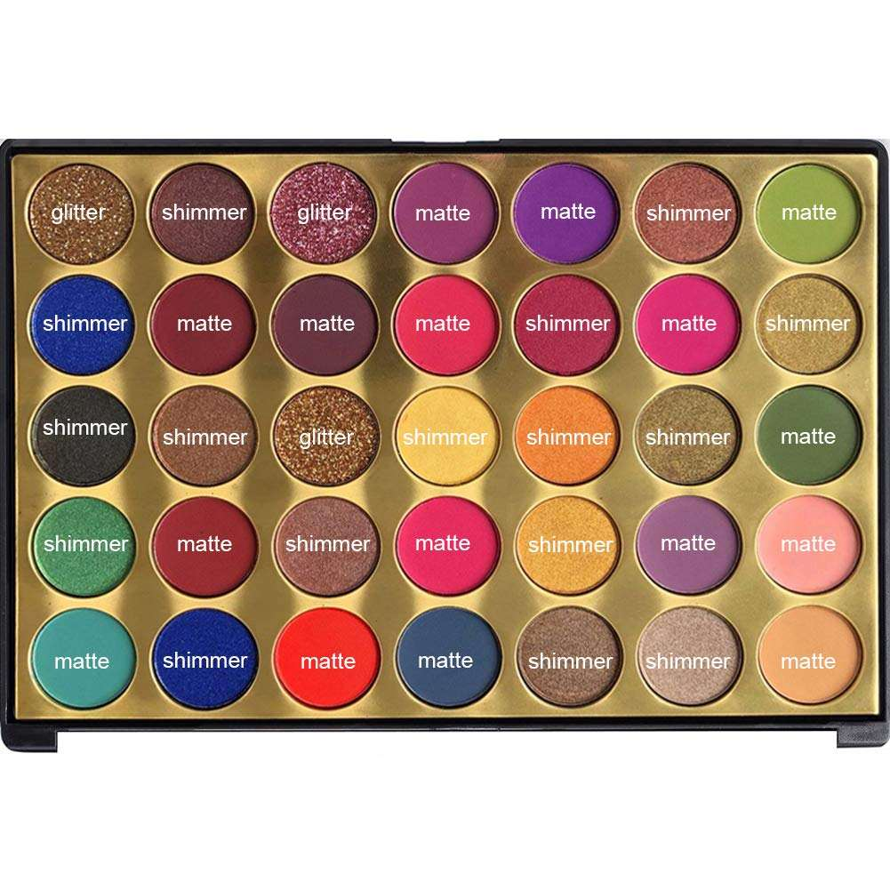 Eyeshadow palette custom empty diy high loose 18 color pigment pigment eyeshadow palette