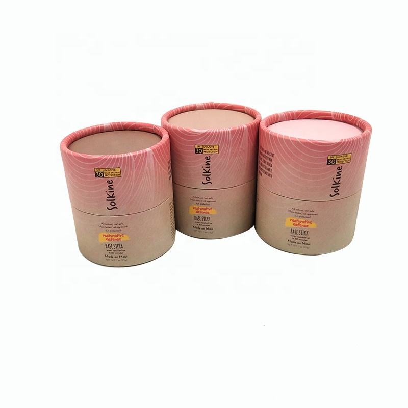 Eco friendly cardboard custom cylinder box liquid beauty cream paper tube package cosmetic packaging tube