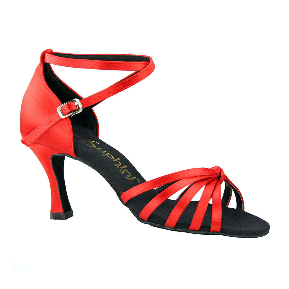 Suphini RED Professional Classic Lady Salsa Latin Dance Shoes