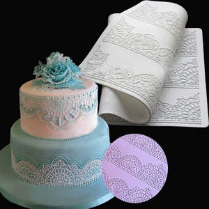 Lace Flower Embossed Fondant Mould Cake Decorating Mold Sugarcraft Icing Mat DIY Fondant Cake Lace Mat