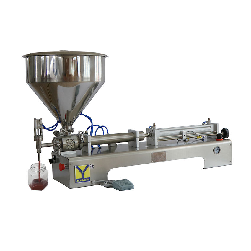 G1WGD-C 50-500ml Pneumatic Gel Body Cream Sauce Jam Honey Filler Paste Bottling Filling Machine