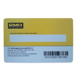 Card PVC serial number barcode lash loyalty cards